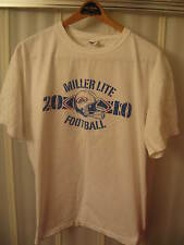 Miller Lite Lager Beer Brewing Company Lounge 2010 Football League T Shirt XLg