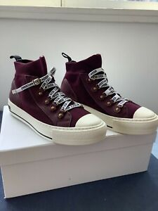 Christian Dior Walk'N'Dior High Top sneakers women Size 8 Pre-owned