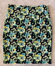 LuLaRoe 3XL FLORAL Green Pencil Skirt