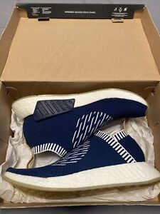 Adidas NMD CS2 Primeknit Ronin Stripes Shoe Navy BA7189 Men's Size 9.5