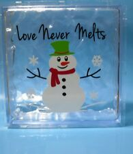 Love Never Melts Snowman Christmas decal sticker for 8