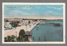 [50074] 1924 Postcard Waterfront & Esplanade in Daytona, Florida