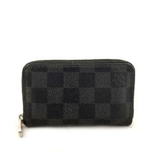 ? Louis Vuitton Damier Graphite Zippy Zip Coin Purse Wallet/71283