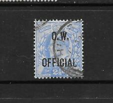 1902 King Edward VII SG O39 RARE 2 1/2d Blue O.W. OFFICIAL Used GREAT BRITAIN