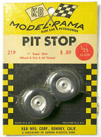 "1965 K&B Aurora 1:24 Slot Car Pit Stop Parts 1"" SUPER SLICK 5-40 WHEEL +TIRE 219"