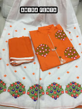 Indian Pakistani Top Plazo Dupatta Complete Suit Design Bollywood Dress Apparel