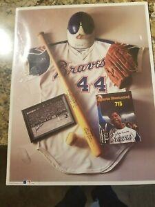 "1993 First Edition Print of Hank Aaron No. 10 Hammerin' Hank's ""715"""