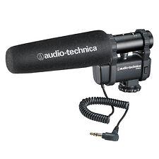 Audio-Technica AT8024 Stereo/Mono Camera-Mount Microphone F/DSLR & Video Cameras