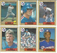 1987 O-Pee-Chee Texas Rangers Team Set