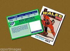 Ken Dryden - Wales All Stars - Custom Hockey Card  - 1975-76
