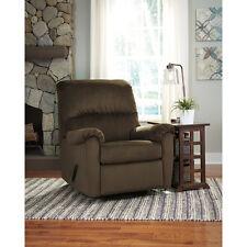 signature design by ashley bronwyn swivel glider recliner in cocoa fabric