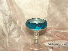 Cat Eye Plastic Lucite Bangle Bracelet Vintage In Style Aqua Blue Woven