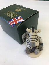 Harmony Kingdom Mini Ebsy Zebra Toy Replica Uk Made Marble Resin Box Figurine