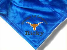 Personalized Monogrammed Throw Blanket w/ Embroidery ~ College Logo plTheme~