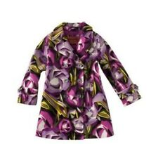 MISSONI for Target Little Girl Purple Floral Velour Double Breasted Coat S(6-12M