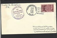 TENNESSEE PASS, COLORADO 1948 COVER TO CONNECTICUT, LAKE CO DPO,1912/1960.