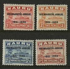 Nauru   1935   Scott #  31-34    Mint Lightly Hinged Set
