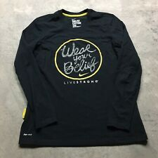 NIKE DRI FIT LIVE STRONG Lance Armstrong Compression T Shirt L Wear Your Belief