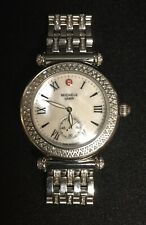 Michele Silver Diamond Caber Ladies Watch Mother of Pearl Face MW16A012025