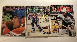 1985 Sports Illustrated EDMONTON Oilers WAYNE GRETZKY Lot 3 No Label GREAT ONE