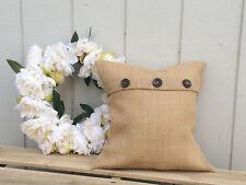 18x18 Burlap pillow cover throw decor french country farmhouse jute Handmade