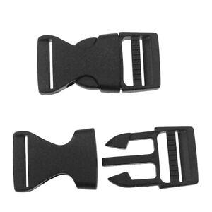 Boscoqo Quick Side Release Buckles 0.4 inch Wide Single Adjustable Clips Snaps Solid Plastic for Nylon Strap Webbing Survival Paracord Bracelet Pet Collar Backpack Fanny Pack Waist Strap Black 7 Pack