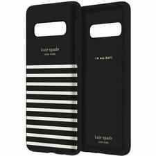kate spade Protective Hardshell Case for Galaxy S10 - Feeder Stripe Black/Cream