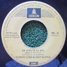 "ROBERT LONG & UNIT GLORIA *Back in the sun* ORIGINAL 7"" Single VENEZUELA"
