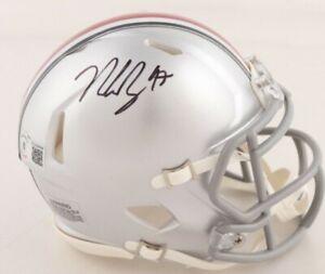 Nick Bosa Signed Ohio State Buckeyes Speed Mini Helmet (BAS)
