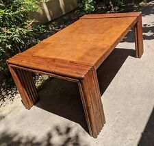 ART DECO FAUX BAMBOO COFFEE TABLE VINTAGE MCM