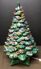"Vintage Holland Mold Ceramic Christmas Tree, Base,  Lights - BIRDS 20"""