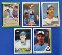 RANDY JOHNSON 1989 (5) Rookie Card Investment LOT - UD, Topps, Donruss, & Score