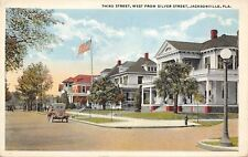 Jacksonville Florida~Third Street Homes~West From Silver~Vintage Auto~1920s PC
