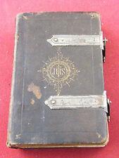 Heures Chrétiennes Abbé Bossuet 1856 Fermetures en Argent Massif Silver Silber