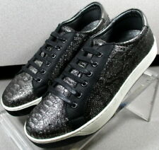 7811597 LSP30 Womens Shoes Size 7 M Black Silver Leather Lace Up Johnston Murphy