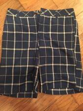 Oneill Plaid Blue & W hite Shorts Men's Size 34 (Inseam 11 Inch)