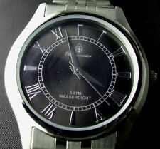 Burgmeister silber-schwarz Edelstahl Herren Armbanduhr BM401 -121 **NEU** watch