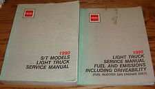 1990 GMC Light Truck S/T Models Shop Service Manual + Fuel & Emissions Set 90