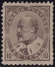 Canada 93 10c brown lilac King Edward VII issue of 1903 - Mint hinged