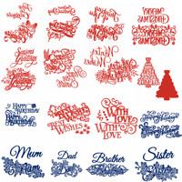 Christmas Greetings Best Wishes Metal Cutting Dies Stencil Craft Album Embossing