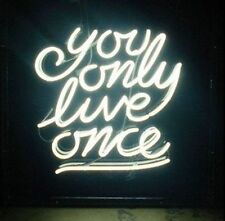"New You Only Live Once Beer Bar Neon Light Sign 17""x14"" Ship From USA"