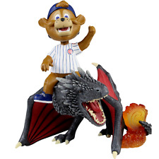 Clark Chicago Cubs Game of Thrones Mascot on Fire Dragon Bobblehead MLB