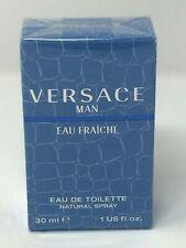 Versace Man Eau Fraiche Cologne by Versace For Men 1.0 oz / 30 ml EDT Spray New