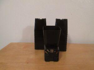 75  black  2 x2  square  pots  brand New  free shipping.