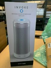OB Harman Kardon INVOKE Voice-Activated Speaker with Cortana (Silver)