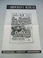 Horror Movie Vintage Press Book Cult Film B Grade Monster Curucu Beast 1956