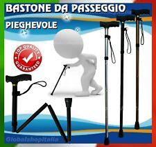★BASTONE DA PASSEGGIO TREKKING PIEGHEVOLE ESTENSIBILE TELESCOPICO IN METALLO★