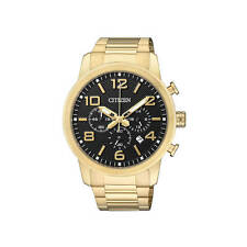 Gold Plated Case Men's Wristwatches with Arabic Numerals