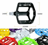 Road MTB Mountain XC AM Bike Pedals flat Platform Bicycle Pedal Magnesium 1 pair