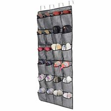 Over The Door Shoe Organizer,Hanging Holder With 24 Extra Large Fabric Pockets